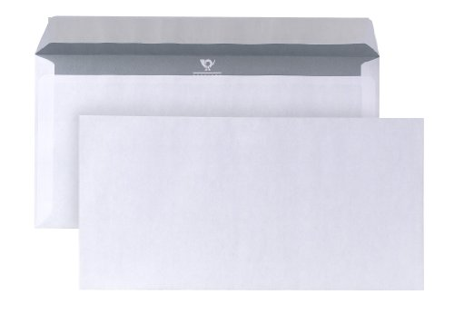 Posthorn 01720150Buste formato DIN orizzontale (110x 220mm), 80g, bianco, con chiusura adesiva, 1000pezzi