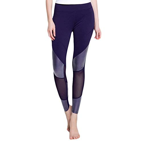 Dames Leggings Figuur Vormende Net Eenvoudige Taille Garen Glamoureuze Splicing Jogging Broek Skinny Stretch Workout Yoga Broek Sport Broek