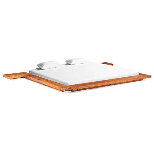 SHUJUNKAIN Estructura para futón japonés Madera Maciza de Acacia 200x200 cm Mobiliario Camas y Accesorios Camas y somieres Material: Madera Maciza de Acacia con Acabado marrón Miel