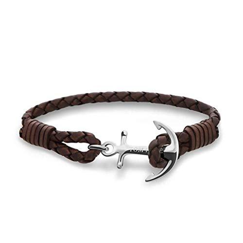 Bracelet TOM HOPE en Cuir Marron