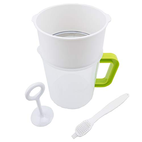 Multiple Usage Food Strainer, Nut Milk Bag Replacement, Yogurt Strainer, Food Grade Polycarbonate And Stainless Steel Mesh BPA-Free, Nut Milk/Soy Milk/Juice/Tea Filter