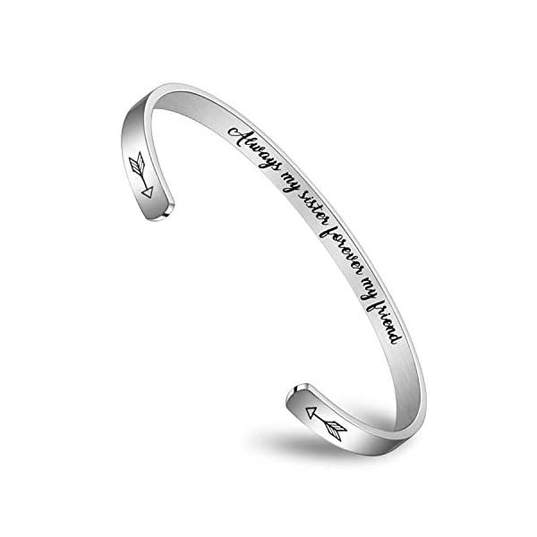 Fashionalife Bangle Bracelets for Women Engraved Cuff Well Behaved Women Seldom Make History
