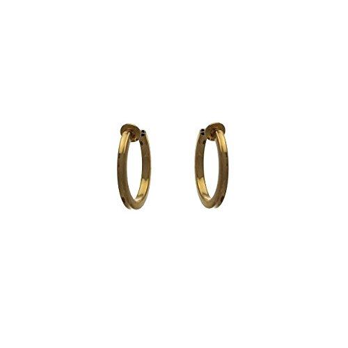 Cerceau quadrato 20mm orecchini a cerchio in oro clip