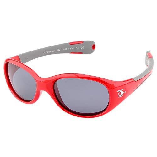 ActiveSol BABY-Sonnenbrille | JUNGEN | 100% UV 400 Schutz | polarisiert | unzerstörbar aus flexiblem Gummi | 0-2 Jahre | 18 Gramm (L, Chopper)
