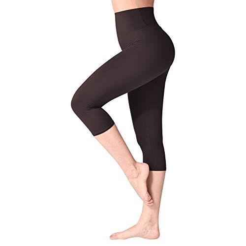 SINOPHANT Mallas Mujer Fitness Cintura Alta 3/4 Pantalones Capri Mujer Leggins Yoga Correr Deporte
