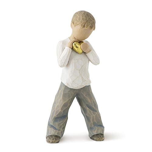 Willow Tree 26142 Figur Herz aus Gold,  2,5 x 3,8 x 14 cm