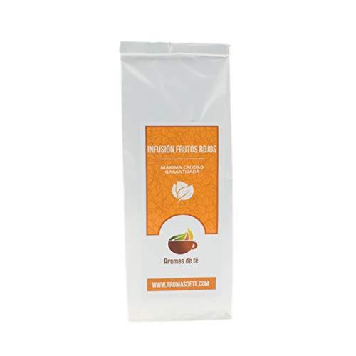 Aromas de Té - Infusión Frutos Rojos con Frambuesa, Fresa Arándanos/Infusión Frutal con Hibisco Grosellas Papaya Bayas de Saúco, 100 gr.