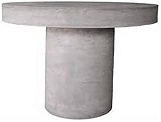 MATHI DESIGN Table Repas Ronde Grise