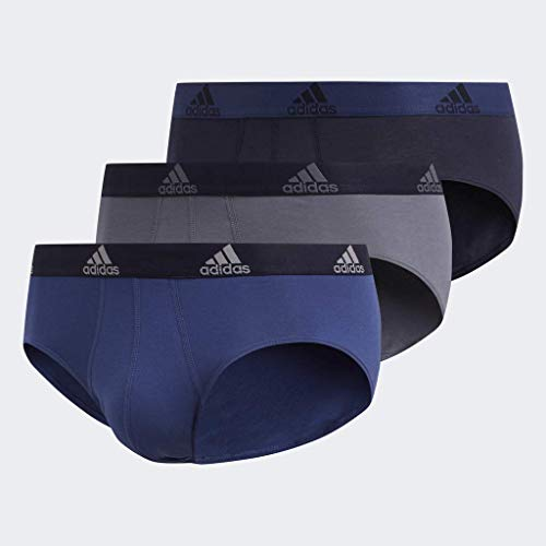 adidas Herren Unterhose aus Stretch-Baumwolle (3er-Pack), Tech Indigo/Legend Ink Onix/Legend Ink Legend Ink/, XL