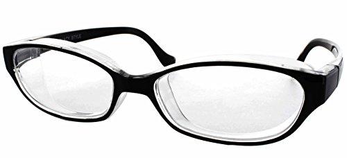 目立たない 曇らない おしゃれ な 花粉 メガネ スカッシー スタイル レギュラー ブラック 8703-01