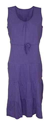 Schuerzenfabrik Kleid Hauskleid Gartenkleid Strandkleid Jersey rot, blau, lila, Größe:52, Farbe:lila
