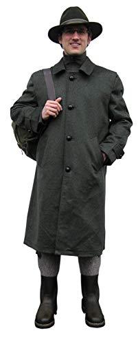 Hubertus Lodenmantel Herren Ansitzmantel aus Loden Jagdmantel extrem geräuschlos Oliv/grün Wintermantel mit vielen Taschen und Teflon®-Beschichtung (46)