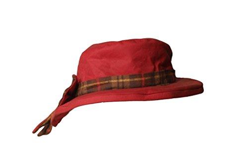 Walker and Hawkes Thelma - Damen Outdoor-Hut mit großer Schleife - Kariertes Band - Rot - Größe XS (56 cm)