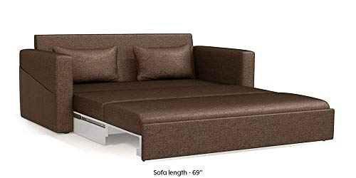 Urban Ladder Camden Sofa Cum Bed (Mocha Brown)