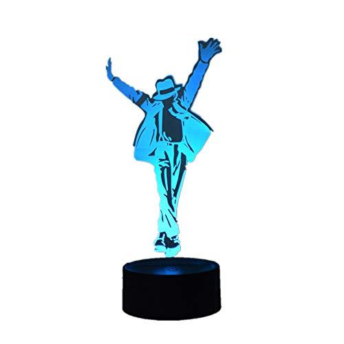 Creative Souvenir Michael Jackson 3D Lights LED Night Light 7 Color Touch/Remote Control 16 Color USB Table Lamp Fashion Home Decoration Fashion Gift