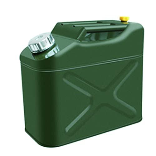 Bidones metálicos para gasolina MMYNL de 10, 20 y 30 litros con boquillas metálicas, aptos para gasolina y líquidos diésel, no homologados, tiempo de descarga inferior a 25 segundos-10L