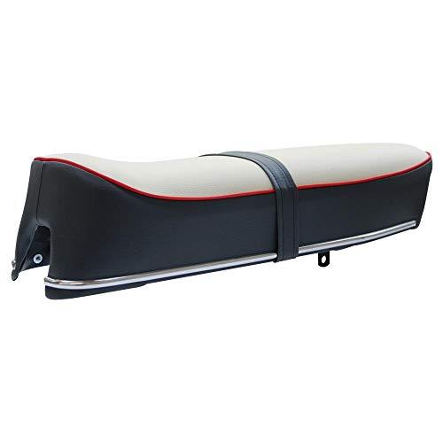 Kreidler Florett Sitzbank Creme/Grau rote Keder GT K54 K 54 K52 K 52