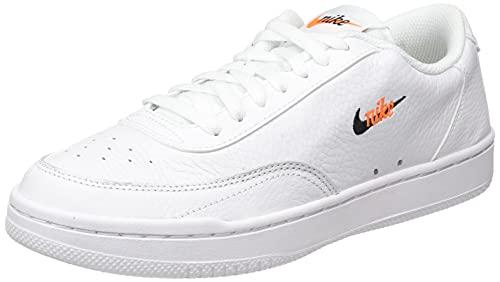 Nike Damen Court Vintage PRM Sneaker, White/Black-TOTAL ORANGE, 38 EU