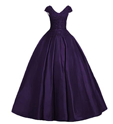 P.L.X Damen A-Linie V Neck Vintage Party Brautkleider Gothic Hochzeitskleider