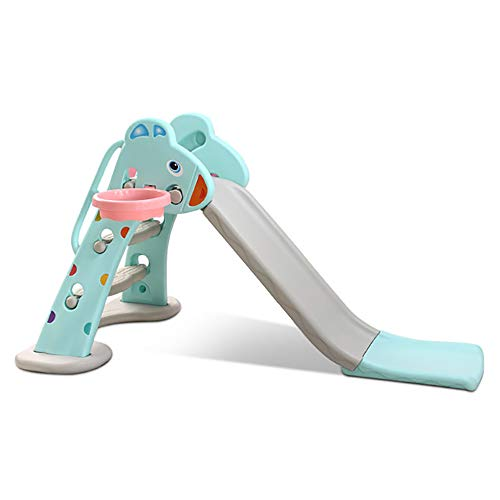 JW-YZWJ Diapositiva para niños Play Play Slide Slide Staking Ride Outdoor Indoor Play Toy Playground Escalador para niños,Azul