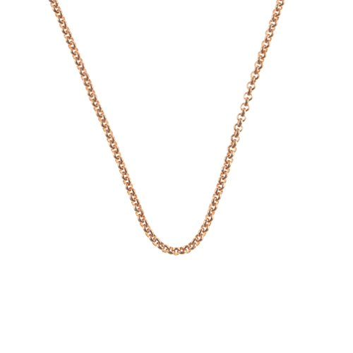 Quoins Halskette Roségold 2,3 mm, Länge: 80 cm