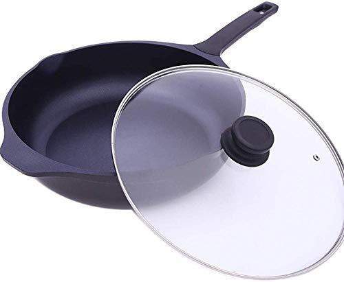 YAYY Pan Wok Anti-aanbakplaat Inductie Cooker Gas Universele Huishoudelijke 32cm (Upgrade)