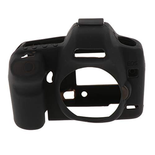 KESOTO Custodia Protettiva in Silicone Morbida Pelle Cover Anti-Impatto per Canon EOS 5D Mark II 5D2 - Nero