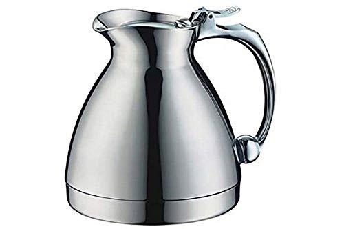 alfi Thermoskanne Hotello, doppelwandiger Edelstahl poliert 0,3l, geignet für Hotel und Gastronomie, Isolierkanne 0557.000.030 hält 8 Stunden hieß, Kaffeekanne oder Teekanne für 2 Tassen