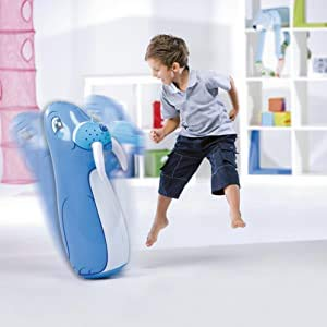 ML Gonfiabili Tentepie Bambole e Animali Gonfiabili Tentetiosi Pupazzo Dinosauro Gonfiabile per Bambini (Blu-Foca)