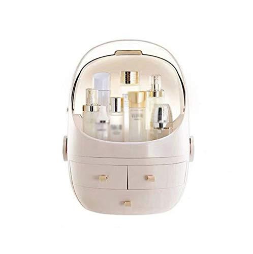 LFLDZ Make-Up-Organisator-Speicher, Beweglicher Kosmetischer Aufbewahrungsbehälter Schubladentyp Tragbare Transparente Desktop-Hautpflege-Produkte Staubdichtes Make-Up-Box,Rosa