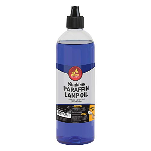 Paraffin Lamp Oil - Blue Smokeless, Odorless, Clean Burning Fuel for Indoor and Outdoor Use with E-Z Fill Cap and Pouring Spout - 32oz - by Ner Mitzvah