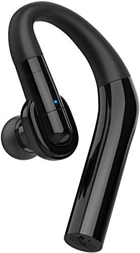 Auricular Bluetooth V5.0 Business Wireless Manos Libres Auricular Suave con Micrófono Teléfono Móvil Auriculares de un solo oído para Teléfonos/Samsung/Android/PC/portátil/Conducción