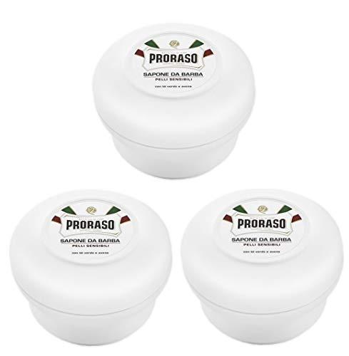 3er Weiß Rasierseife Proraso im Rundtopf Shaving Soap je 150 ml = 300 ml