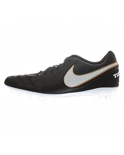 Nike Tiempo Legacy II AG-R, Botas de fútbol Hombre, Negro/Blanco (Black/White-Metallic Gold), 42