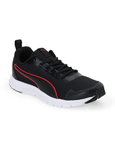 Puma Men's Hurdler Idp Black-High Risk Red Running Shoes-8 UK (42 EU) (9 US) (37310501_8)