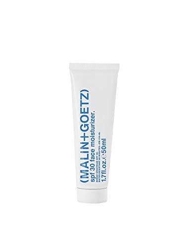 Malin + Goetz SPF 30 Face Moisturizer, natural sun damage protection with Vitamin E, moisturizes and balances all skin types, for men and women, vegan and cruelty free 1.7 Fl Oz