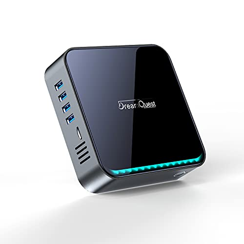 Mini PC Windows 10 Pro Intel Celeron J4125 4 Core/8GB+256GB, Desktop PC Small Form Computer 4K Dual Output, 2.4G+5G Dual Wi-Fi & Bluetooth 5.0, HDMI for Daily Office & Business Mini Computers