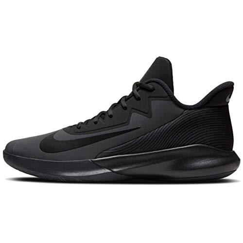 Nike Men's Precision IV Basketball Shoes, Dark Smoke Grey/Black, 12