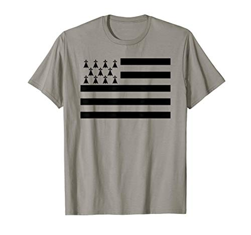 Bretagne Flagge Fahne Urlaub Bretonen Frankreich Geschenk T-Shirt
