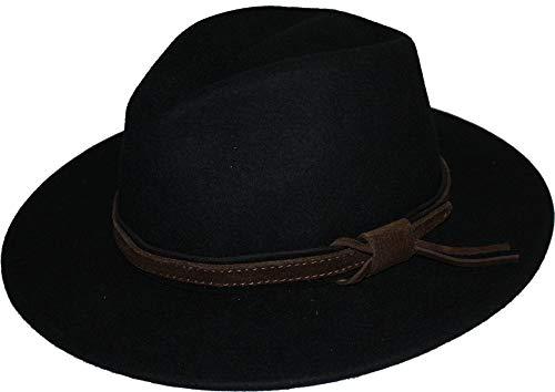Scippis Boston weerbestendig westers/cowboy hoed zwart medium
