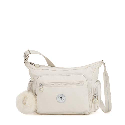 Kipling Gabbie S, Borsa a Tracolla Donna, Bianco (Dazz White), 29x22x16.5 cm