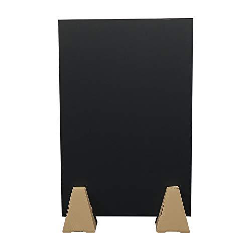 ボックスバンク 段ボール パーテーション 看板 黒 90×60cm 5枚セット自立スタンド 10個付 板 仕切り 衝立 FB44-0005-i