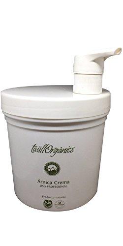 Taull Organics - Crema de Árnica Eco 1000ml | con Dosificador | Arnica Montana | Antiinflamatorio Natural | para Dolor Muscular, Espalda, Cuello y Cervicales | Ecológico