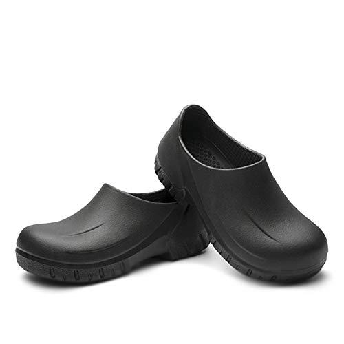 Unisex chodaki ogrodowe dla dorosłych, wodoodporne, antypoślizgowe chodaki kuchenne, lekkie chodaki Eva Clogs Shoe robocze chodaki bezpieczeństwa czarne EU41