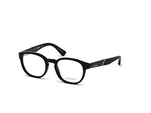 Diesel DL5286 Monturas de gafas, Negro (Negro Lucido), 45.0 Unisex Adulto