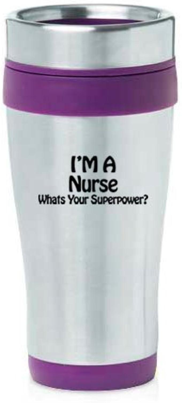 453,6gram Mug de voyage isotherme en acier inoxydable infirmière Super Power (Violet) par MIP