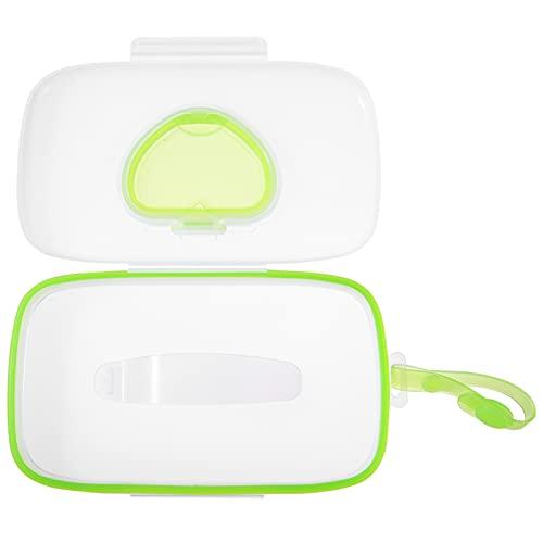 HEALLILY 2 Pzas en Movimiento Dispensador de Toallitas Húmedas Caja de Pañuelos de Papel Portador de Toallitas para Bebés Contenedor de Toallitas para Viajes Al Aire Libre Coche Verde