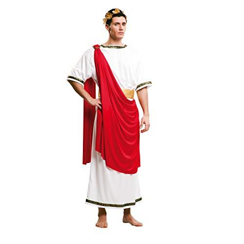 My Other Me-203225 Disfraz de Csar con tnica para hombre, color rojo, M-L (Viving Costumes 203225)