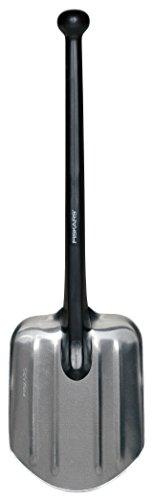Fiskars Pelle de secours ultra légère, Poids: 479 g, Longueur: 70 cm, Tête en aluminium/Manche en plastique, Noir, 1001574