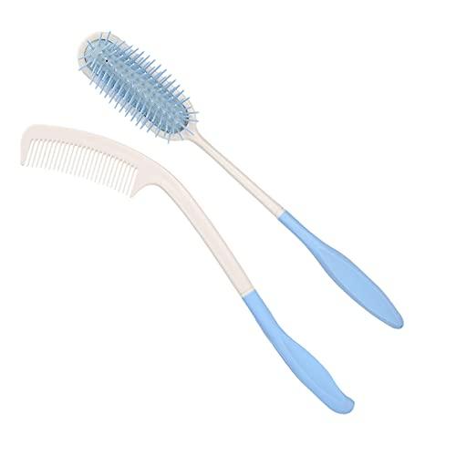 Cepillo de pelo de largo alcance, peine de largo alcance, cepillo de pelo de cojín de aire de peine de mango largo para ancianos para discapacitados